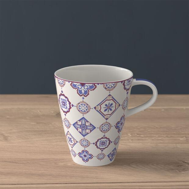 Modern Dining coffee mug, indigo caro, , large