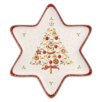 Winter Bakery Delight Large Star Bowl : Tree