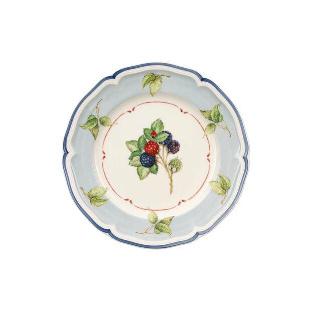 Cottage Blue Rim/Leaf Salad Plate, , large