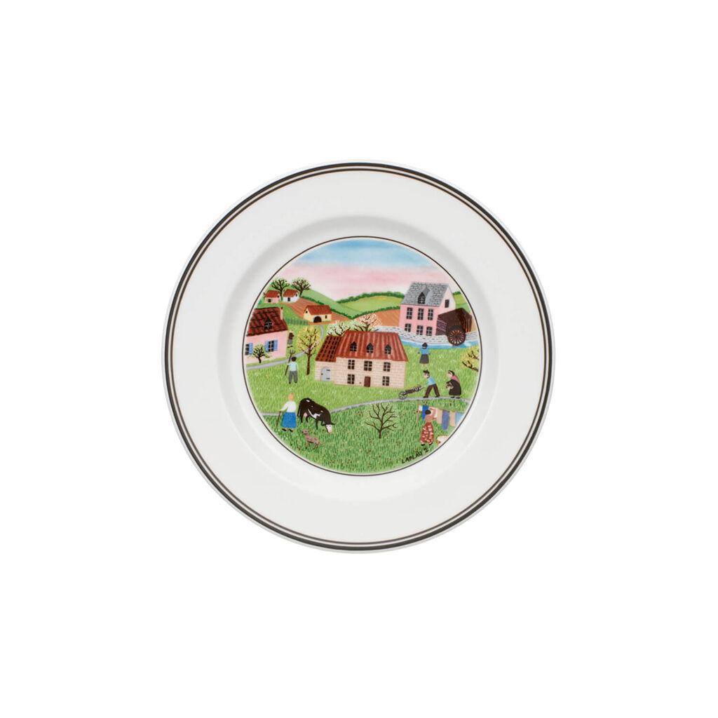 빌레로이 앤 보흐 디자인 나이프 디저트 접시 Villeroy&Boch Design Naif Appetizer/Dessert Plate #2 - Spring Morn 6 3/4 in