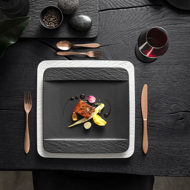 Manufacture Rock Square Dinner Plate, , large