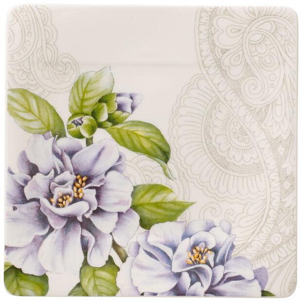 Quinsai Garden Square Appetizer/Dessert Plate: Camellia, , large