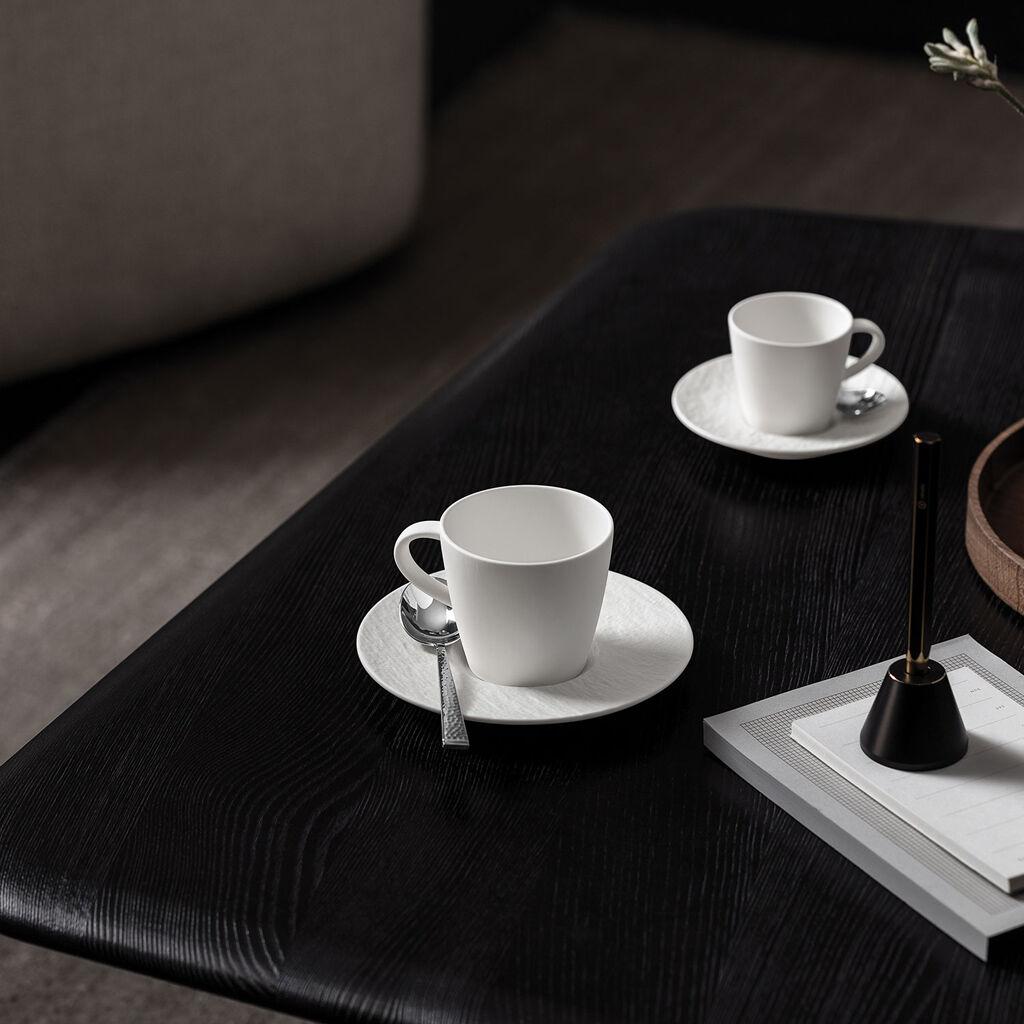 빌레로이 앤 보흐 찻잔 받침대 Villeroy & Boch Manufacture Rock blanc Tea Cup Saucer