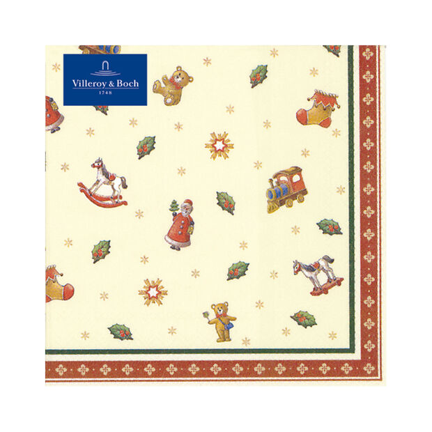Winter Specials Luncheon Napkin: Scattered Toys, , large