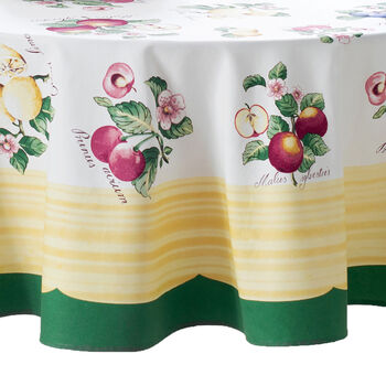 Elrene French Garden Tablecloth:Round 70 in