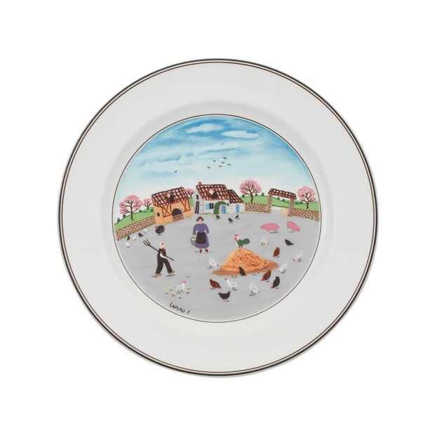 Design Naif Dinner Plate #3 - Country Yard, , large