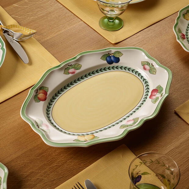 French Garden Fleurence Oval Platter, Small, , large