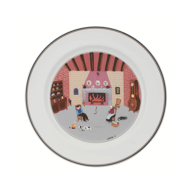 Design Naif Dinner Plate #5 - By The Fireside, , large