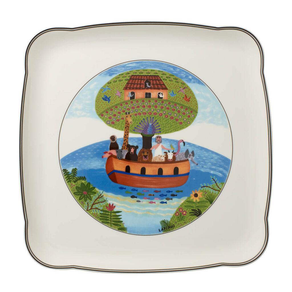 빌레로이 앤 보흐 디자인 나이프 스퀘어 플레터 Villeroy & Boch Charm & Breakfast Design Naif Square Platter 11 3/4 in