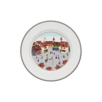 Design Naif Salad Plate #4 - Old Village Square