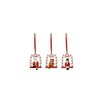 Nostalgic Ornaments Ornamente Harlequin,Teddy and Santa 3pcs