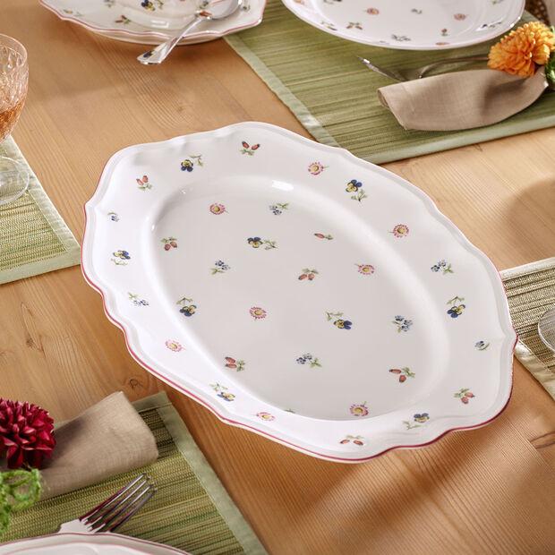 Petite Fleur Oval Platter, Large, , large