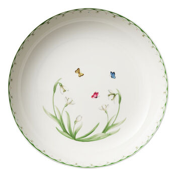 Colourful Spring Round Vegetable Bowl, Large