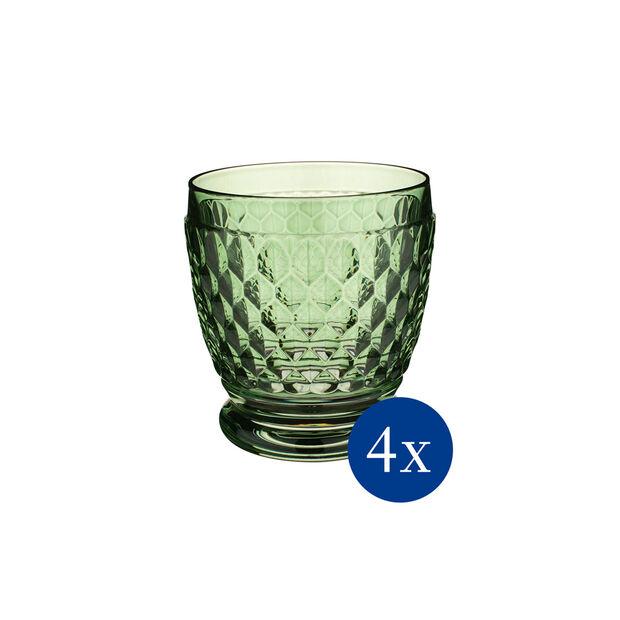 Boston Colored DOF Glass: Green, Set of 4, , large