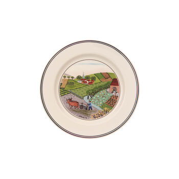 Design Naif Appetizer/Dessert Plate #4 - Plowing