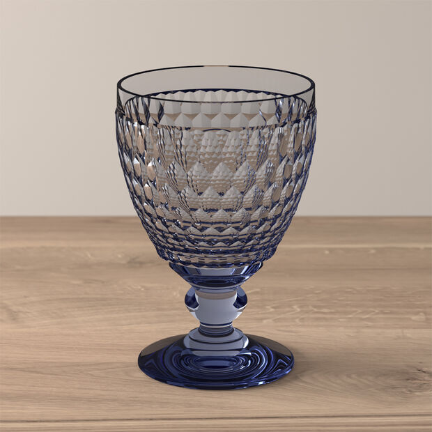 Boston Colored Goblet: Blue, , large