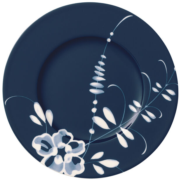 Old Luxembourg Brindille Appetizer & Dessert Plate: Blue, , large