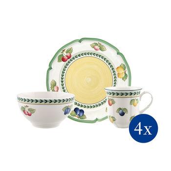 French Garden Fleurence 12 Piece Dinnerware Set