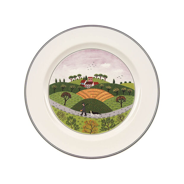 Design Naif Dinner Plate #6 - Hunter & Dog, , large