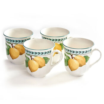 French Garden Modern Fruits Jumbo Mug Lemon Set of 4 10x13,5x10,5cm