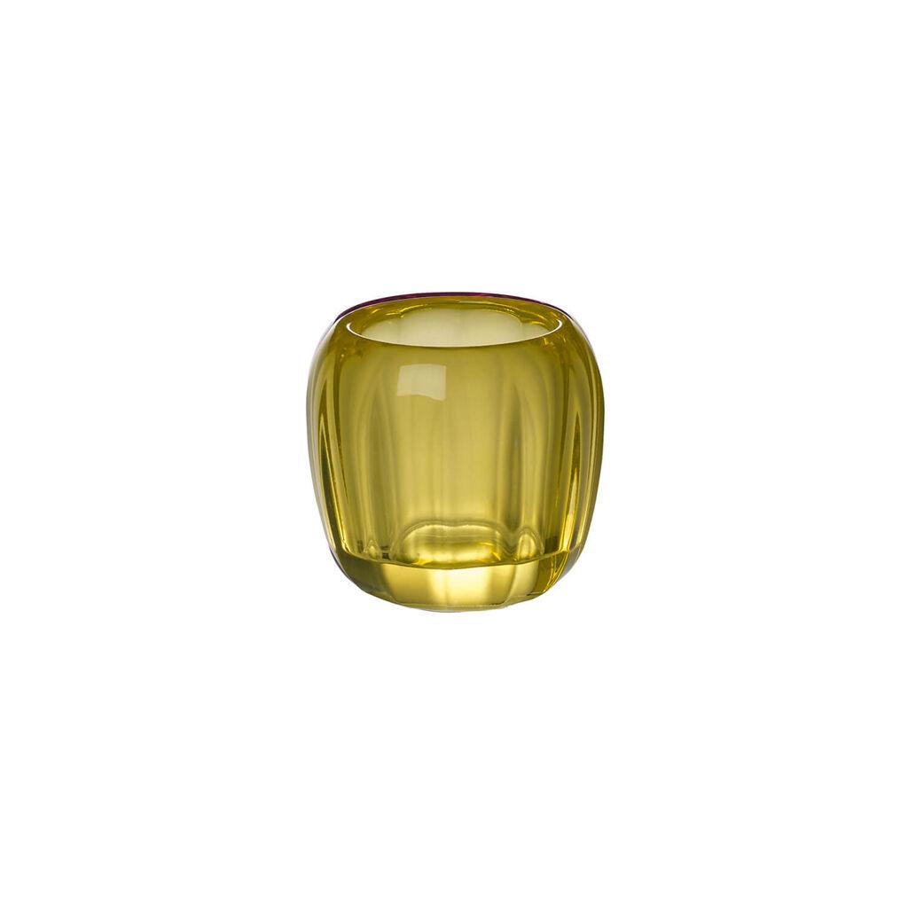 빌레로이 앤 보흐 티라이트 홀더 Villeroy & Boch Coloured Delight Small Tealight Holder : Lemon Pie 2.75 in