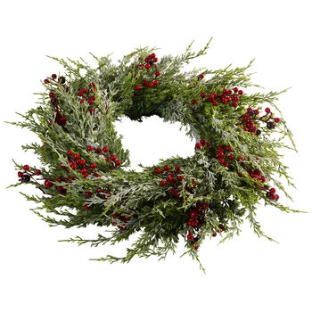 Winter Collage Accessories Large Wreath with Berries