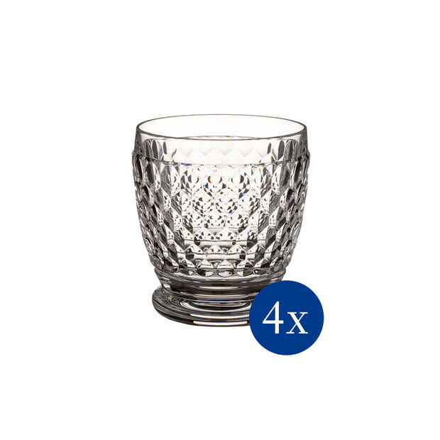 Boston Double Old-Fashioned Glass, Set of 4, , large