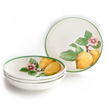 French Garden Modern Fruits Pasta Bowl Lemon Set of 4