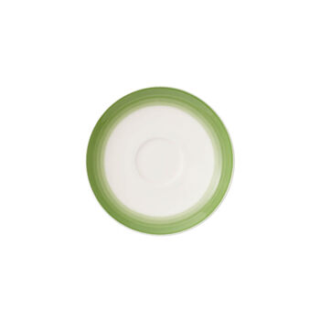 Colorful Life Green Apple Espresso Cup Saucer