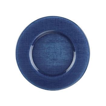 Verona Glass Charger: Deep Blue