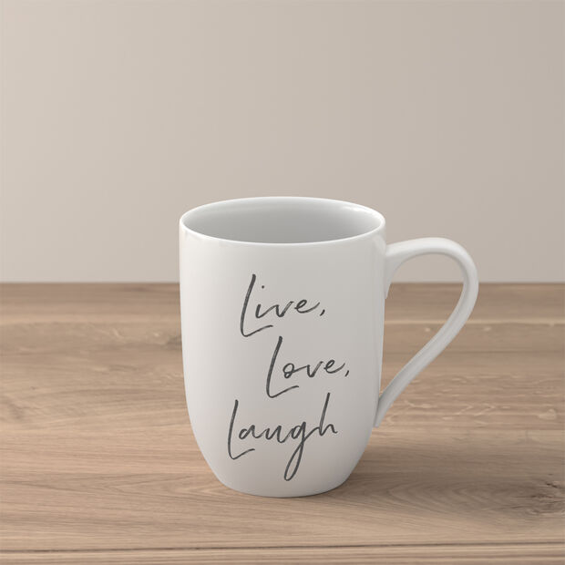 Statement Mug: Live Laugh Love, , large
