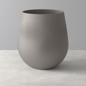 Manufacture Collier taupe Large Vase : Carre