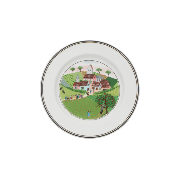 Design Naif Appetizer/Dessert Plate #3 - Wedding Procession, , large