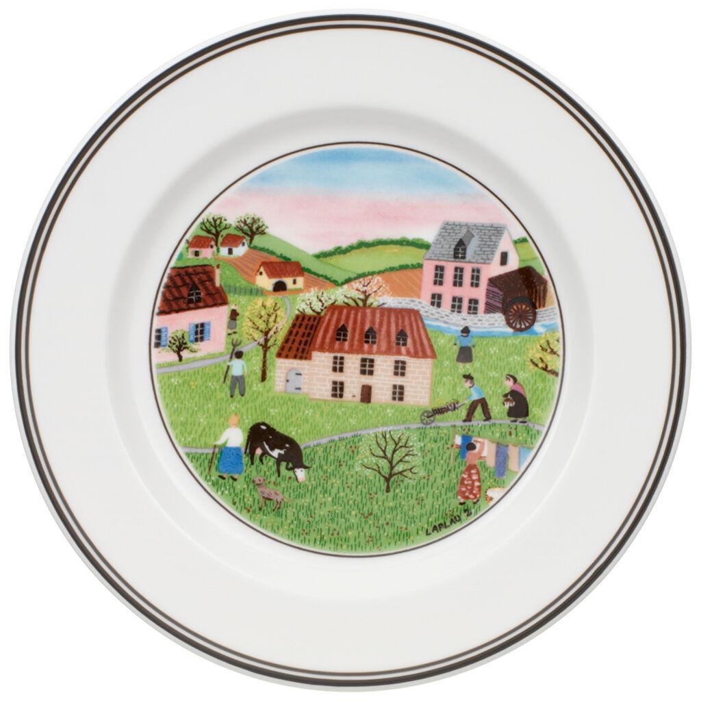 빌레로이 앤 보흐 디자인 나이프 애피타이저 디저트 접시 Villeroy&Boch Design Naif Appetizer/Dessert Plate #2 - Spring Morn 6 3/4 in