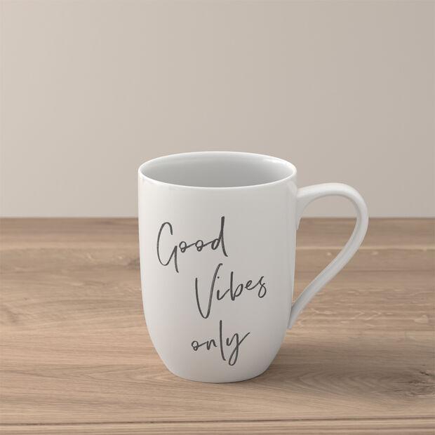 Statement Mug: Good Vibes Only, , large