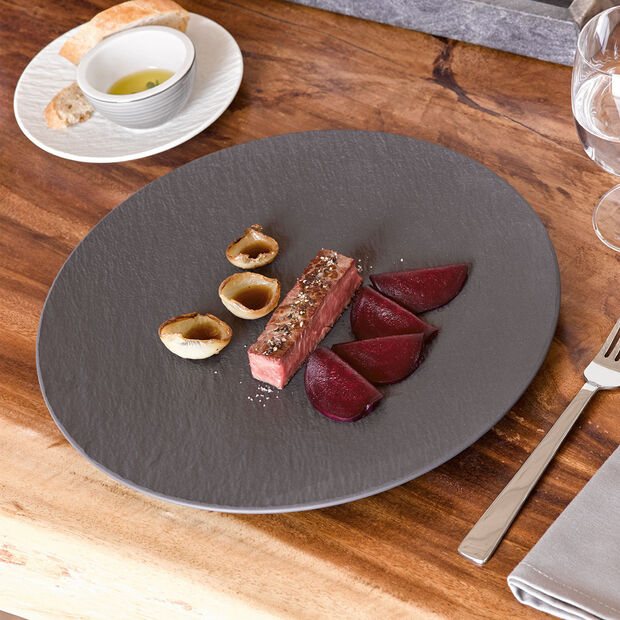 Manufacture Rock Pizza/Buffet Plate, , large
