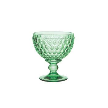 Boston Coloured Champagne/Dessert Bowl: Green, Set of 4