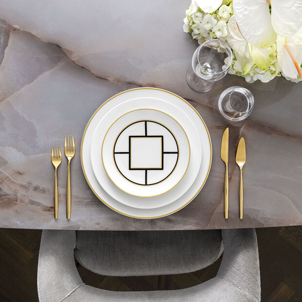MetroChic Salad Plate: White Rim, , large