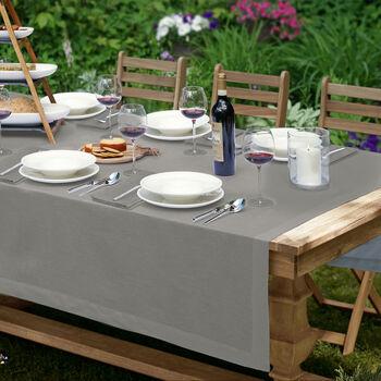 """La Classica Oblong Tablecloth: Grey, 70x96"""""""