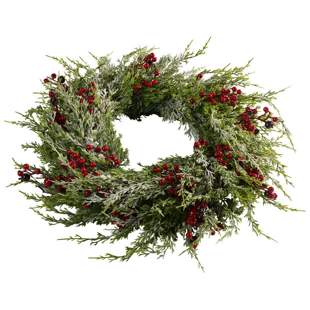Winter Collage Accessories Large Wreath with Berries, , large