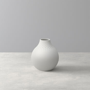 Manufacture Collier Blanc Perle Vase, Small