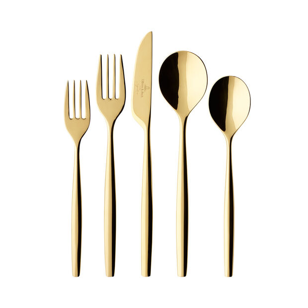 MetroChic d'Or 5 Piece Place Setting, , large