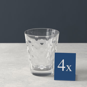 Dressed Up Crystal Glass Tumbler: Dots, Set of 4