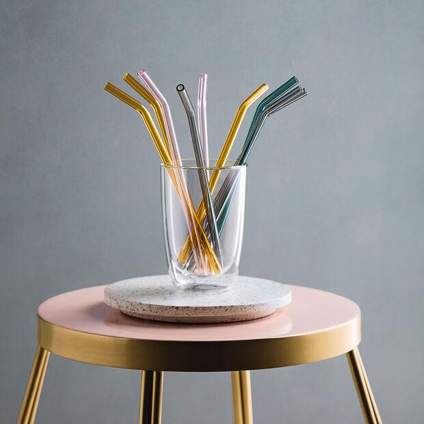 Artesano Hot & Cold Beverages Glass Straw 5 Piece Set, , large