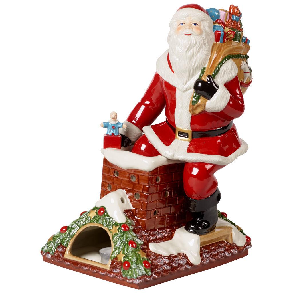 빌레로이 앤 보흐 '크리스마스 토이즈' 산타 온 루프탑 피규어 Villeroy & Boch Christmas Toys Memories Figurine : Santa on Rooftop 9.25x7.75x12.5 in