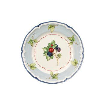 Cottage Blue Rim/Leaf Salad Plate