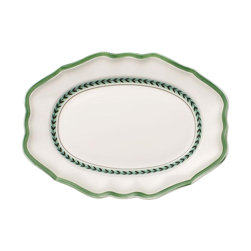 빌레로이 앤 보흐 프렌치 가든 오발 접시 Villeroy&Boch French Garden Green Line Oval Platter 14.5 in
