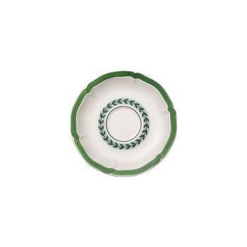 French Garden Green Line Teacup Saucer