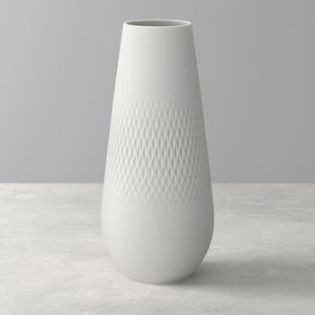 Manufacture Collier Blanc Carre Vase, Tall