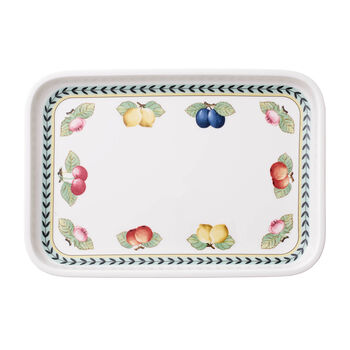French Garden Baking Rectangular Serving Plate/Lid, Small